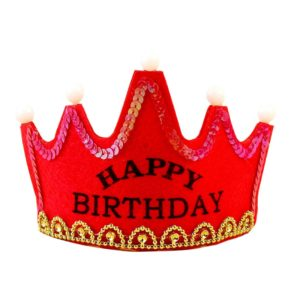 Fashionable LED Light Up Birthday Crown Hat
