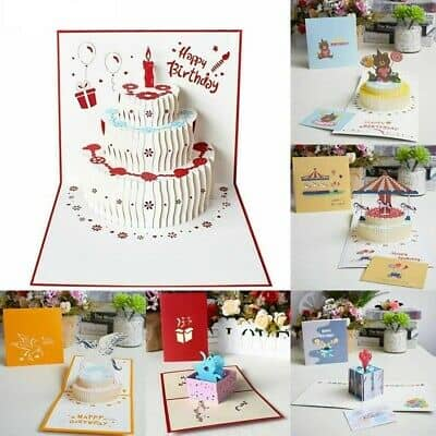 Best Pop Up Birthday Card And Mini Balloon For Decoration