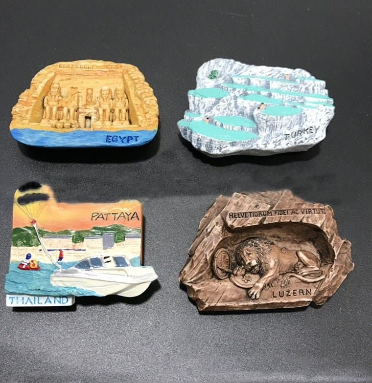 Egyptian and Thai 3D Refrigerator Magnet