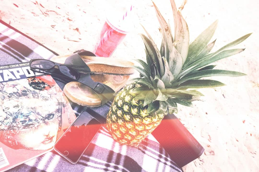 A pineapple sitting on a table